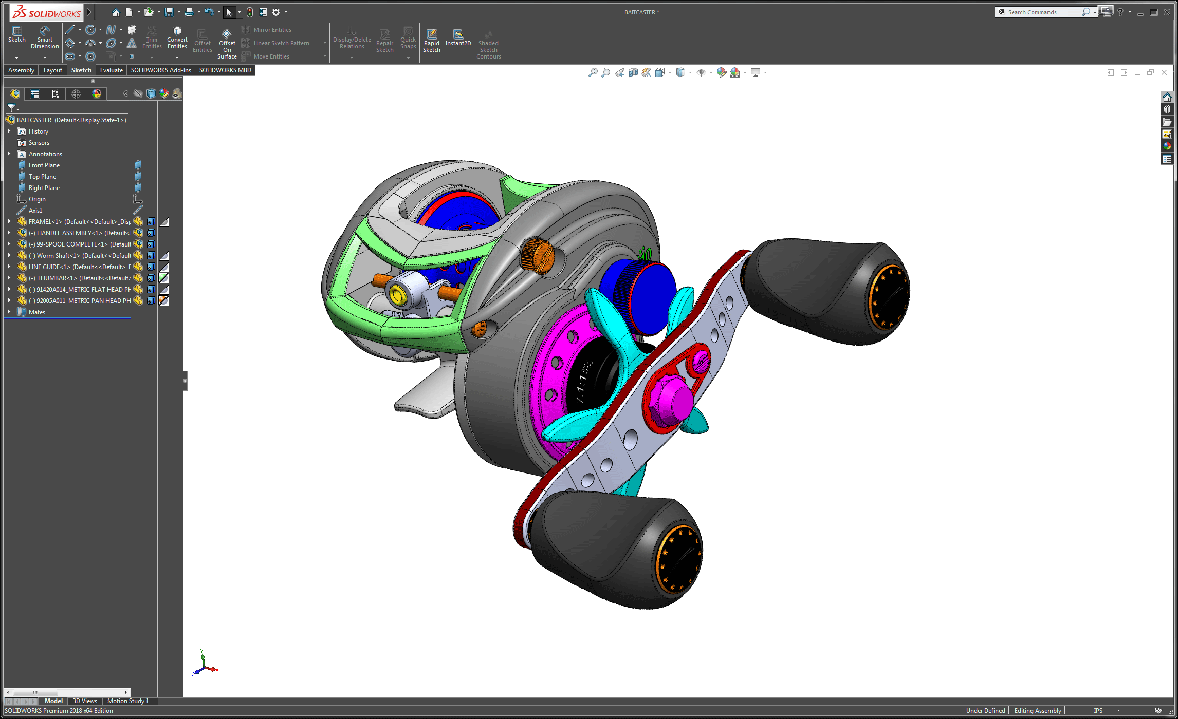 Ratha Designs - 3D Scanning and Reverse Engineering Rod and Reel